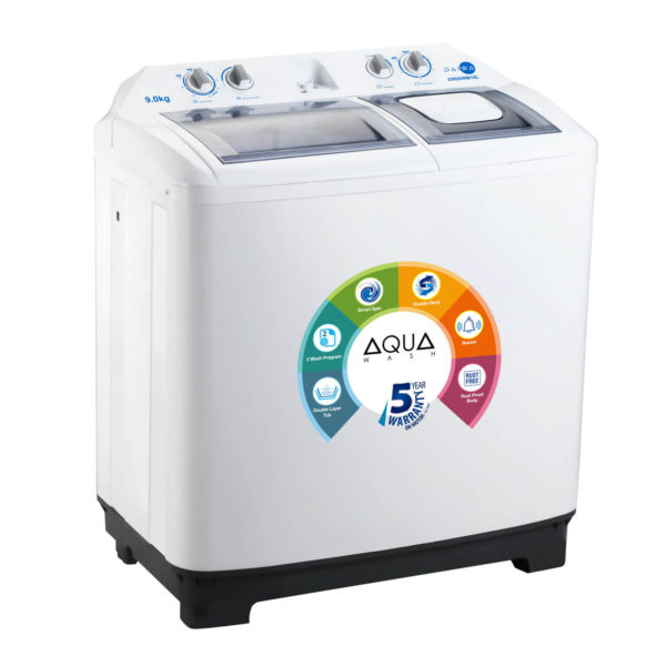 Daiwa Semi Automatic Washing Machine 9 kg