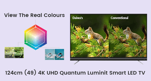 Daiwa D50QUHD-M10 124cm (49) 4K UHD Quantum Luminit Smart LED TV