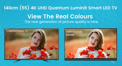 140cm (55) 4K UHD Quantum Luminit Smart LED TV