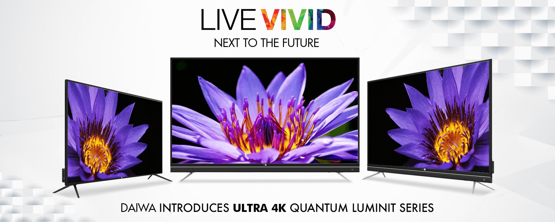 4K UHD Quantum Luminit Smart LED TV