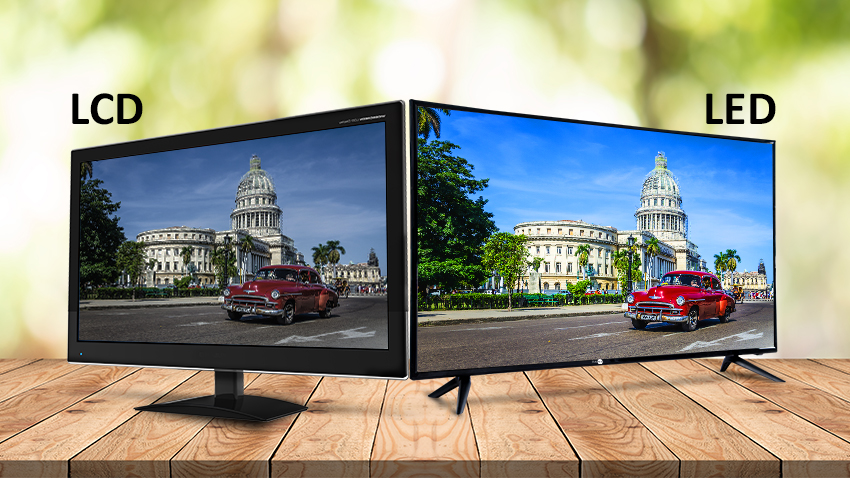 basic difference between lcd and LED TVs