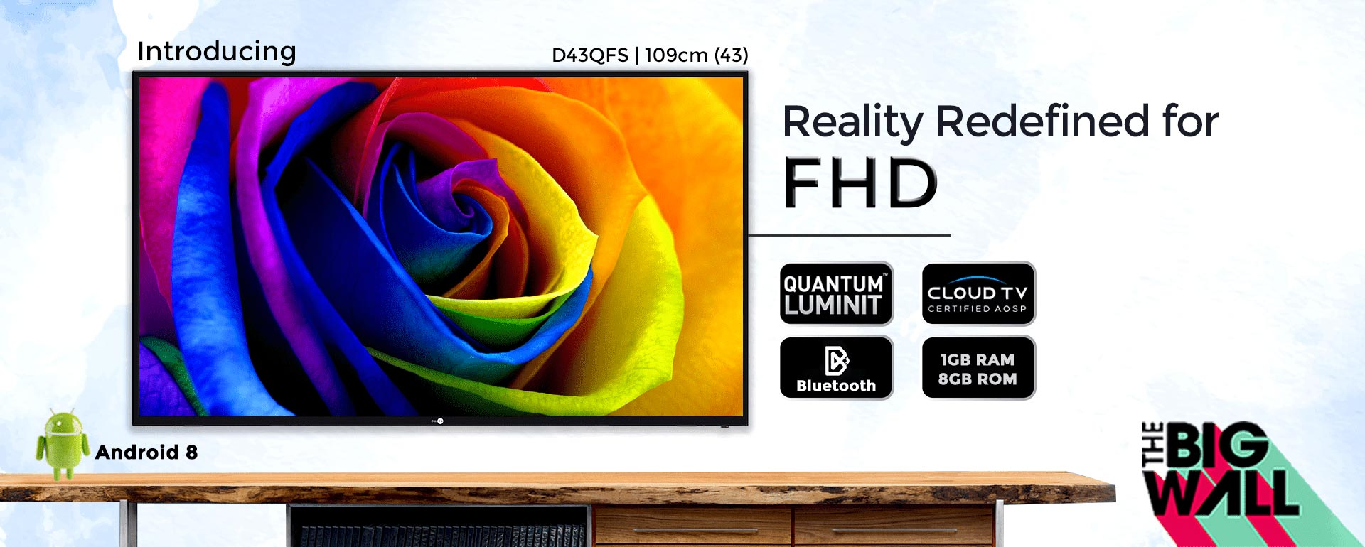 D43QFS - 43 Inch Full HD Smart LED TV