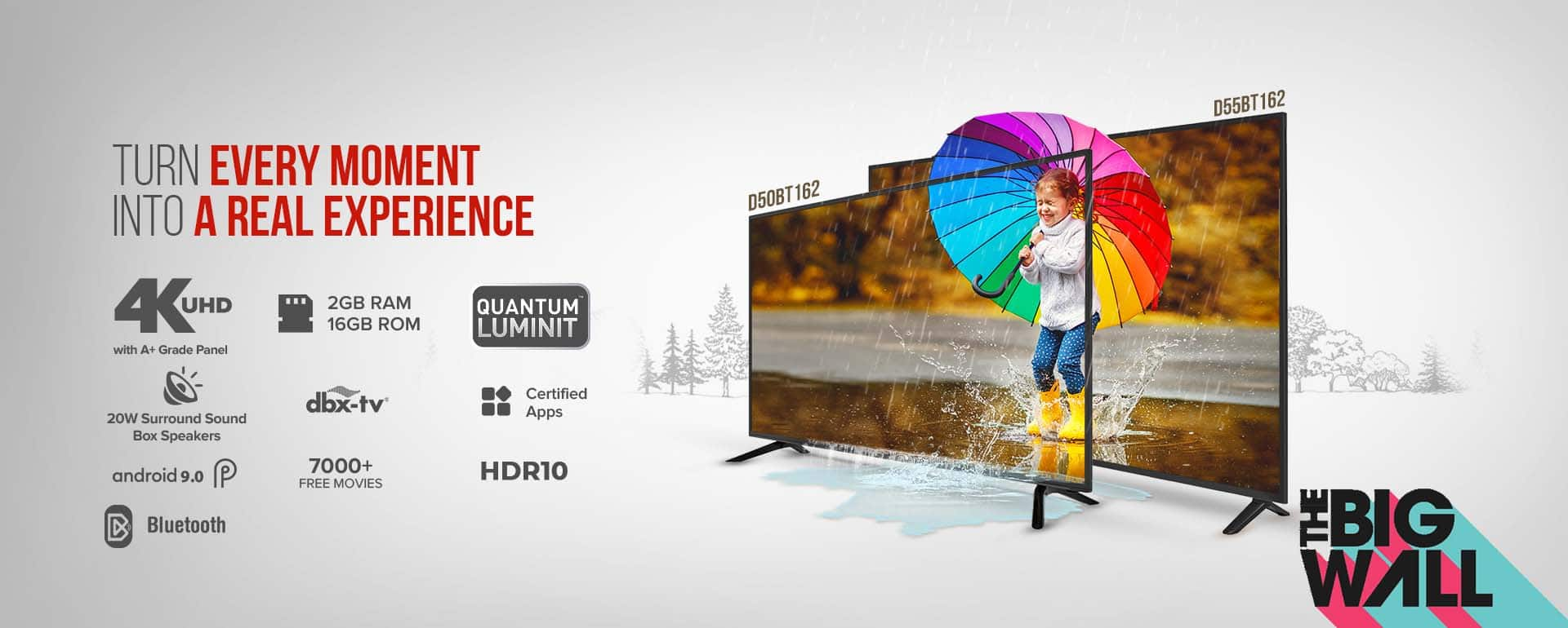 49 and 55 Inch Smart LED TV